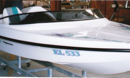 Aerospace inspired, high tech hull of the Ultima X ski boat