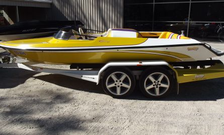 Prestige Ultima X skiboat has missile like sleekness & sizzling performance